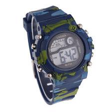 Para Niños Chicos Camuflaje Natación Deportivo Reloj De Pulsera Digital Relojes