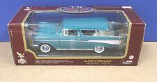 Road Legends 1:18 92088 1957 Chevrolet Nomad Wagon Aqua Blue MIB