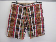 Polo Ralph Lauren reversible khaki madras plaid casual summer shorts size 36