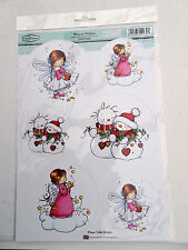 The Hobby House-Winter Wishes Toppers-4 Sheets Of Let It Snow Backing Card-250gs