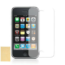 6 X LCD SCREEN FILM GUARD FOR APPLE iPHONE 3G 3GS - 6 X FREE CLEANING CLOTHS