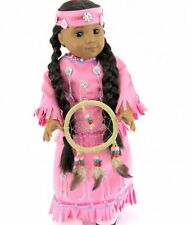 """Doll Clothes AG 18"""" Indian Skirt Top Pink Dream Catcher Fits American Girl Doll"""