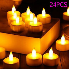 Battery Operated Tea Candle Lights Party Wedding LED Flameless Electric Tealight