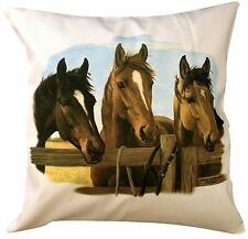 Horse Equestrian Meeting Themed Cotton Cushion Cover - Pe 00004000 rfect Gift