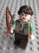 Lego KATNISS EVERDEEN Minifigure Custom from HUNGER GAMES Bow & Arrow Mockingjay