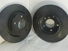 New 2, R1 Concepts BHS.34049L&R Slotted  Brake Rotors 2-D3-C4 Type E