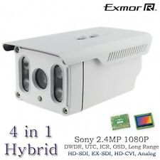 Long Range HD 2.4MP Sony Hybrid 1080P Bullet Matrix Camera HD-SDI, EX-SDI 395FT
