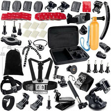 Gopro Accessories Set Helmet Harness Chest Belt Head Mount Strap Monopod Go pro