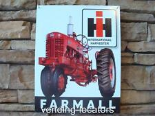 Vintage Antique Rustic Distressed FARMALL Farm Tractor Ad Tin Metal New Sign