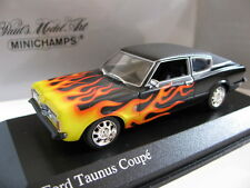 1/43 Minichamps Ford Taunus Coupe with Flames 1970 diecast