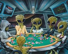 Alien Motivational Poster Art Print ET Texas Holdem Poker PhiI Ivey UFO MVP350