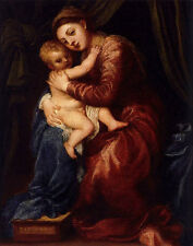 Perfect art Oil painting Tiziano Vecellio - Virgin and Child on canvas