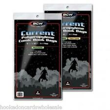 1 Case of 1000 BCW 7' Thick Current Comic Resealable Poly Bags Sleeves