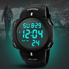 Mens Women Digital Light Date Alarm Waterproof LCD Military Sports Watch Vogue
