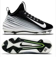 Nike New Lunar Vapor Mike Trout Baseball Cleats Black White 654853-010 Sz 14