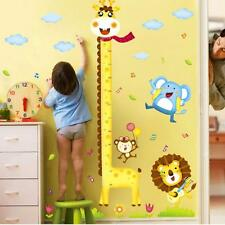 Colorful Wardrobe Giraffe Animals Wall Stickers Tiny Art Wall Decals for Bedroom