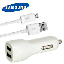 2.1A Dual Car Charger + OEM Micro USB Cable for Samsung Galaxy S4 S3 Note 2 4