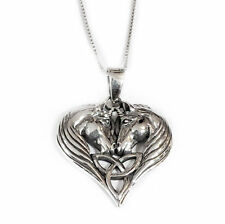 New Sterling Silver 925 Unicorn Heart Pendant Necklace in Gift Box Lisa Parker