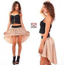 Mini gonna corta davanti lunga dietro minigonna miniskirt donna skirt sexy 180