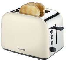Breville VTT540 2 Slice Wide Slot TOASTER - CREAM Stainless Steel Removable Tray