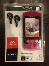 Sony Walkman NWZ-S545 Red ( 16 GB ) Digital Media Player S Series FM tuner