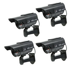 4 X Solar Power Fake Dummy Security CCTV Camera Waterproof IR Surveillance JQ
