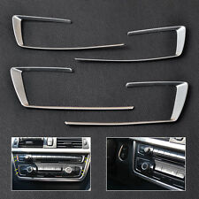4pcs Chrome Console Button Cover Trim For BMW 3 4 Series F30 F32 F34 2013-2015