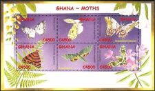 Ghana 2002 Moths/Insects/Nature/Conservation/Environment 6v m/s (n42789)