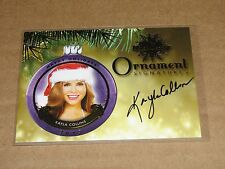 2015 Benchwarmer KAYLA COLLINS #61 Holiday Gold Ornament Auto PLAYBOY Playmate