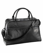 DIESEL PARFUMS HOLDALL DUFFLE WEEKEND GYM SPORTS TRAVEL BAG MEN'S GREY/BLACK