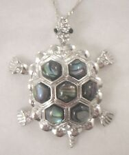 Necklace/Pendant Tortoise Abalone Shell new chain rhinestone turtle articulate