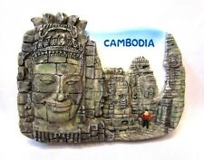 BAYON CAMBODIA 3D GIFT MAGNETIC HOLDER RESIN COOLER FRIDGE SOUVENIR MAGNET