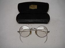 VINTAGE ROUND EYE GLASSES WITH CASE CHICAGO