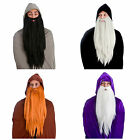 LONG PLUSH FANCY DRESS ELASTICATED BEARDS ACCESSORY FACIAL HAIR ADULT FAKE THICK