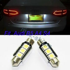2X Error Free Canbus License Plate LED SMD Light Bulbs C5W 6418 For Audi B5 A4