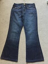 7 FOR ALL MANKIND Jeans 26 Boot Cut Dark Wash Embroidered Pockets U130061U-0610
