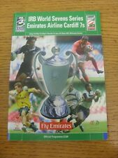31/05/2002 Rugby Union Programme: 7-A-Side World Series Cardiff [At Millennium S