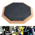 6 Inches Dumb Drum Soft Rubber Wooden Double Side Practise Pad Beginner Drummer