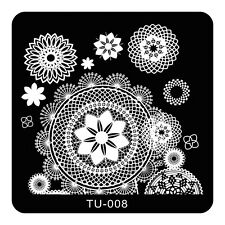 HOT Manicure TU Nail Stamping Plate Stainless Steel Nail Art Stamp Template T-08