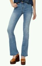 Brand New Ladies 70's Style Boohoo Flare Jeans Denim Comfy Fit Size 12