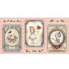 La Vie En Rose Santoro Panel 24 x 44 inch fabric Quilting Treasures
