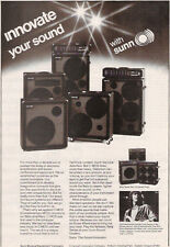 1979 CHRIS SQUIRE OF YES IN A SUNN AMPLIFIERS AD
