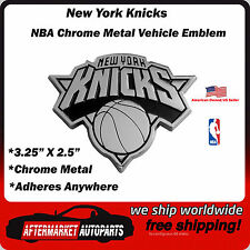 New York Knicks NBA Chrome Metal Car Auto Emblem Team Decal Logo Ships Fast