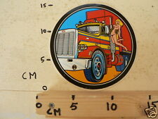 STICKER,DECAL TRUCK MACK ? WITH PIN-UP GIRL RETRO VINTAGE