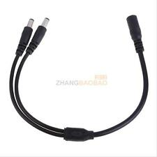 1 Female to 2 Male DC Power Plug Cable wire Splitter 5.5x2.1mm Adapter For CCTV