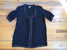 FOLEY + CORINNA 100% Cotton Brass Stud Baby Doll Tunic Top Blouse Sz Xs