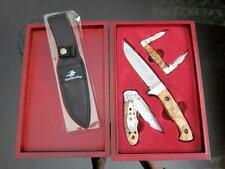 2006 Winchester Burl Wood Knife Gift Set 3 Piece Limited Edition