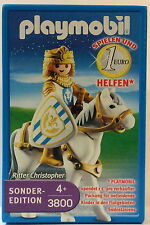 Playmobil 3800 Ritter Christopher Medieval Knight on Horse 2005 Collectible MIB