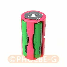 Parallel Adapter Battery Holder Case Box Convertor 4 AAA/LR03 to C Size