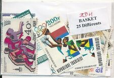 ZDH - BASKET : 25 TIMBRES DIFF. OBLI. Ts PAYS